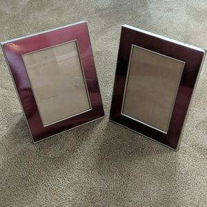 Metal picture frames - set of two
